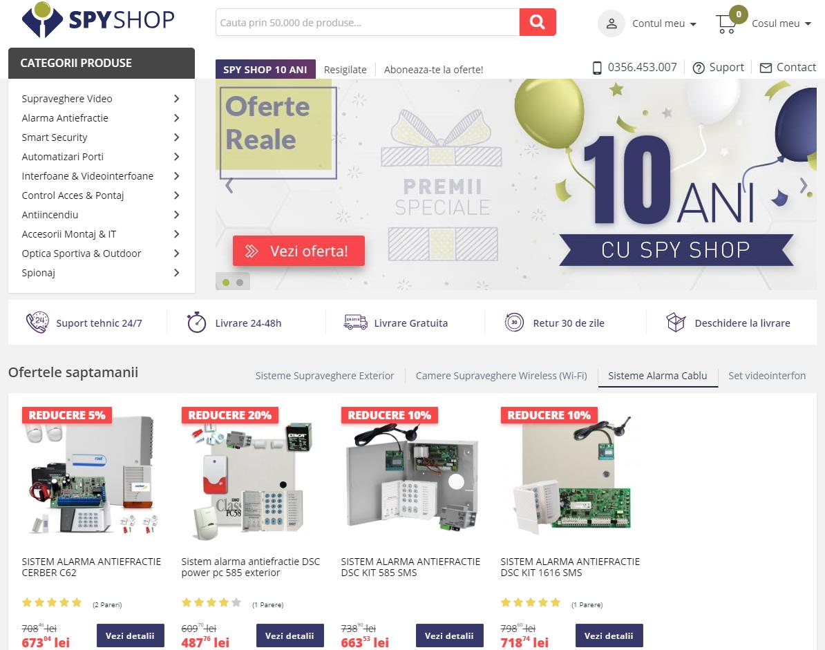 spyshop homepage