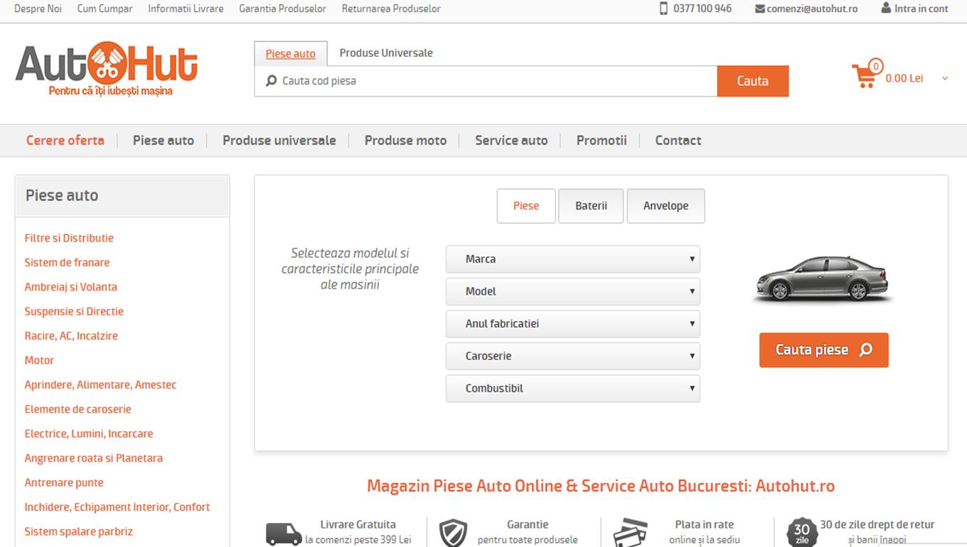 Autohut Homepage