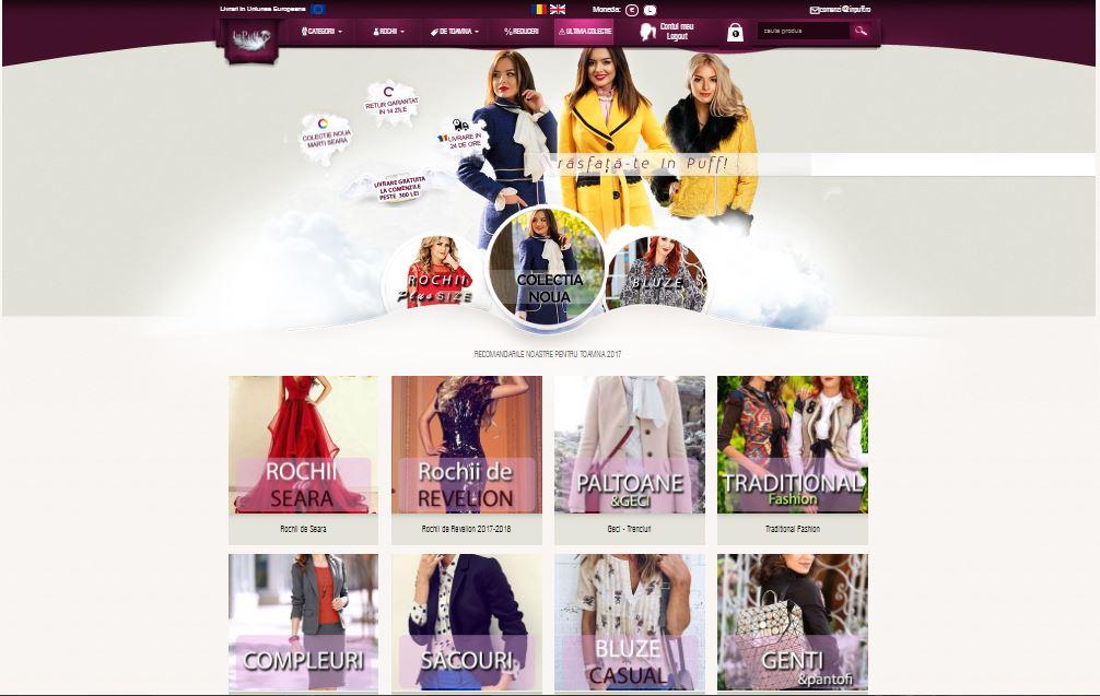 InPuff.ro Homepage